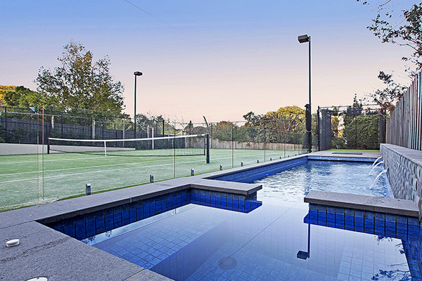 Exotic Pools - Pool & Tennis Court Combinations